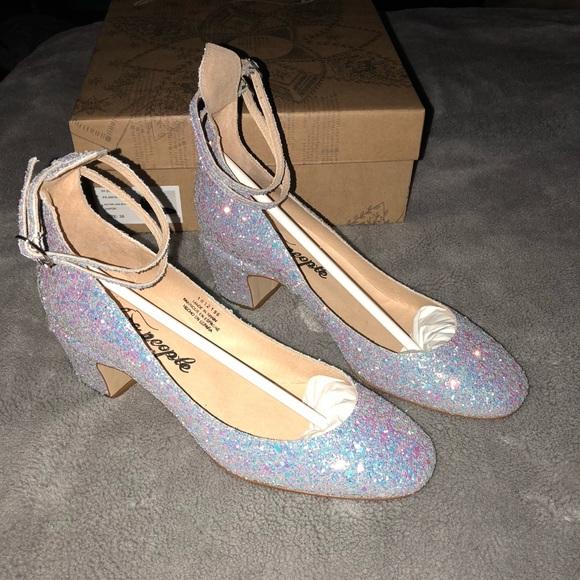 504934242a4 Free People glitter Lana block heel